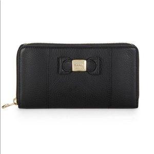 See by Chloe | Leather Zip-Around Wallet in Black